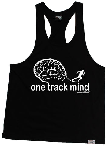 Mens Personal Best Muscle - One Track Mind Running Tank Top