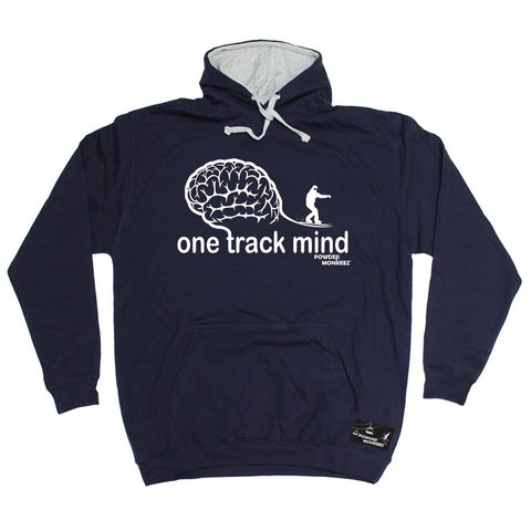 Powder Monkeez -   One Track Mind Snowboard - HOODIE Funny Birthday Casual Christmas Hoody