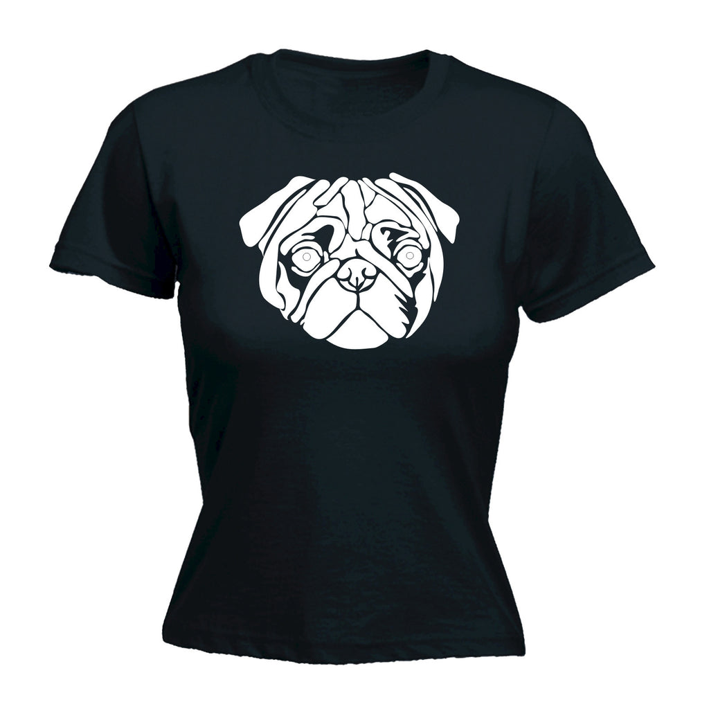 Pug Dog Design - FITTED T-SHIRT