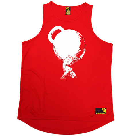SWPS -  Greek God Atlas Mythology Kettlebell - MEN'S PERFORMANCE TRAINING COOL VEST