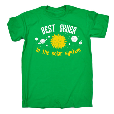 BEST SKIER IN THE SOLAR SYSTEM ... GALAXY DESIGN  LOOSE FIT T-SHIRT - funny slogan tee