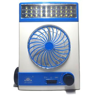 3 in 1 Solar Light Fan (White/Blue)