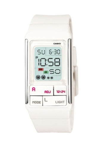 Casio Poptone Watch * LDF52-7A Digital White for Girls