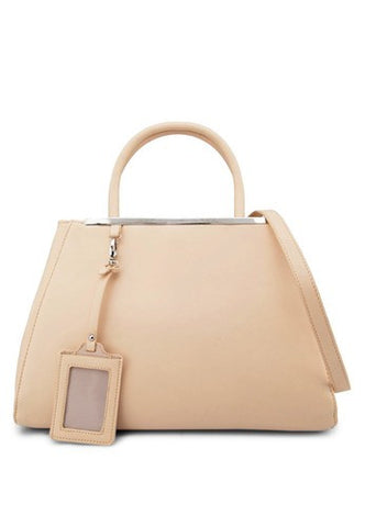 Saffiano City Tote With Metal Bar