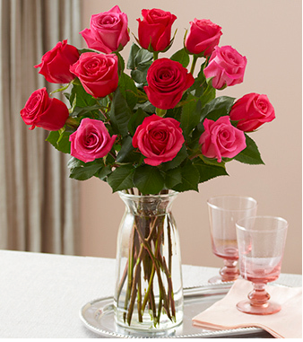 Long Stem Red Rose Bouquet 1 Dozen