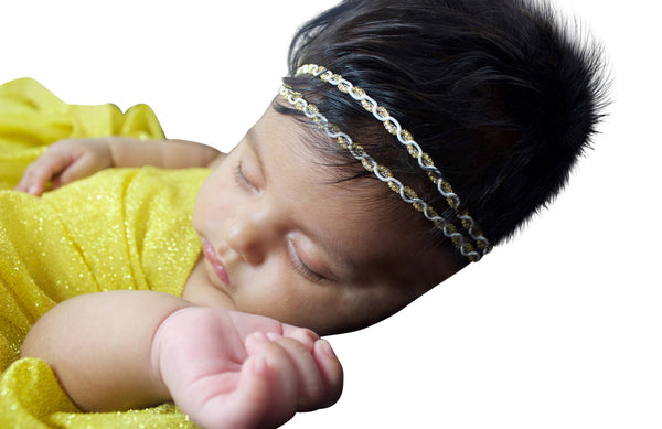 Chic Two Strand Gold Braided Headband - Headbands - AllBabyGirls - 1