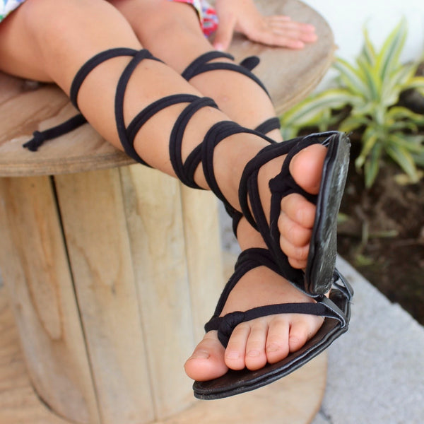 Black Toddler Gladiator Sandals - Gladiator Sandals - AllBabyGirls - 1