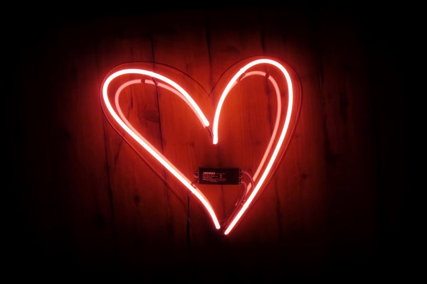 Heart Neon Sign Noble Gas Industries