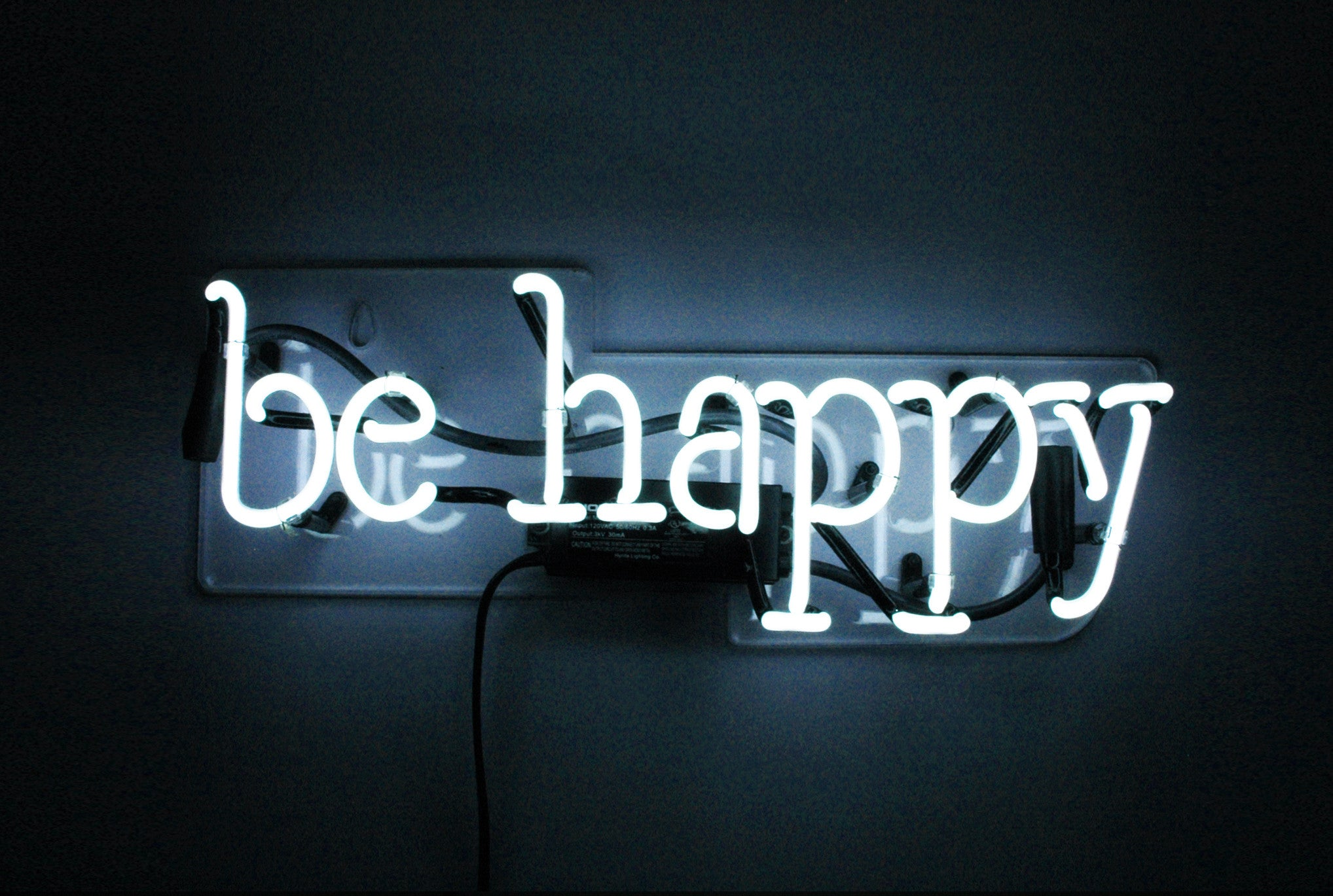 be happy neon sign noble gas industries