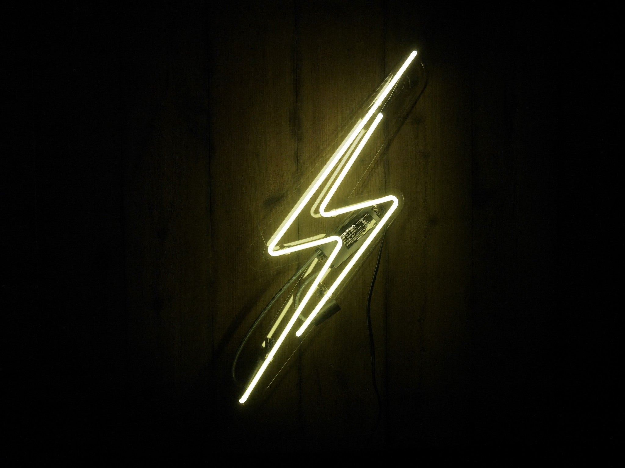 Lightning Bolt Neon Sign Noble Gas Industries