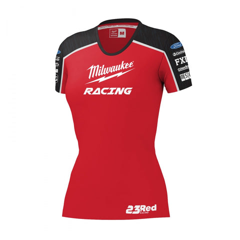 2019 MILWAUKEE RACING BLACK/RED TEE WOMEN'S