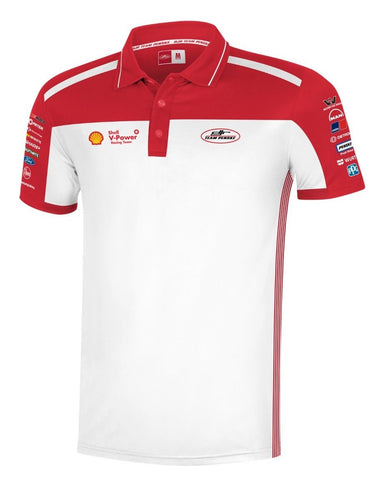 2019 SHELL V-POWER WHITE TEAM POLO