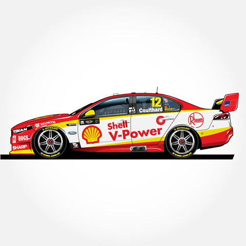 1:18 / 1:43 / 1:64 2018 Shell V-Power Racing Team #12 Ford FGX Falcon Supercar Driver: Fabian Coulthard