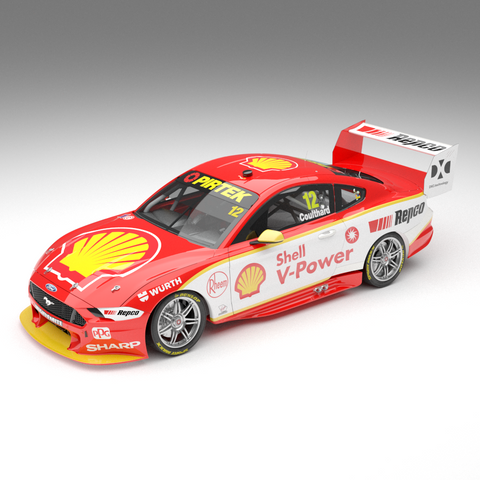 1:64 2019 Shell V-Power Racing Team #12 Ford Mustang GT Supercar: Driver Fabian Coulthard