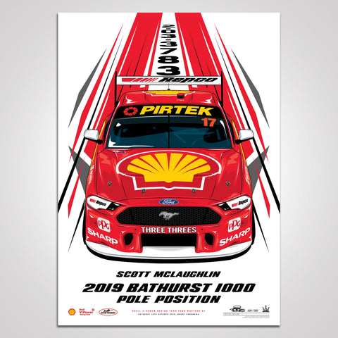 Shell V-Power Racing Team 2019 Bathurst 1000 Pole Limited Edition Illustrated Print