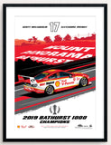 Shell V-Power Racing Team 2019 Bathurst 1000 Champions Limited Edition Illustrated Print