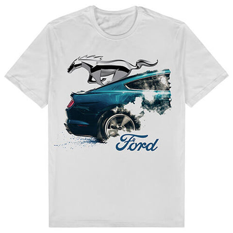 FORD MUSTANG MENS WHITE TEE