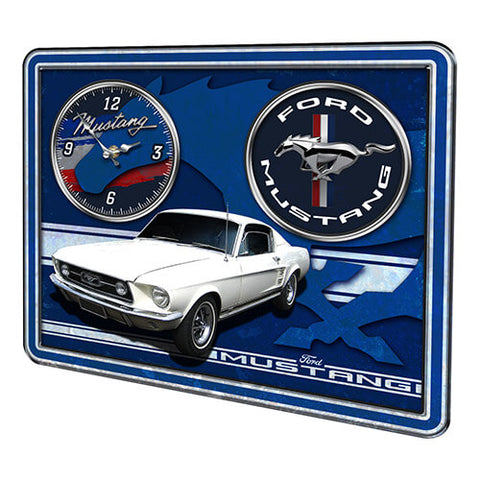 FORD TIN SIGN WALL CLOCK