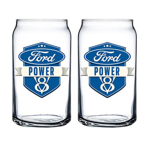 FORD V8 S/2 CAN-SHAPED GLASSES