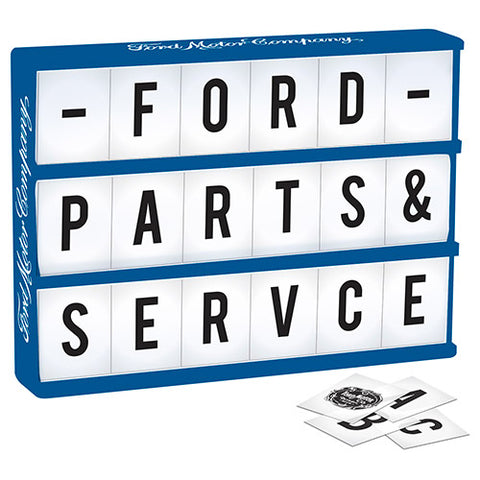 FORD LIGHT UP BOX WITH LETTERS