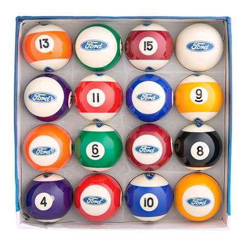 FORD POOL BALL SET - 16PCS