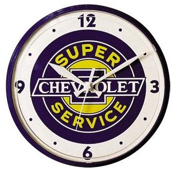 CHEVROLET SUPER SERVICE CLOCK – 12″