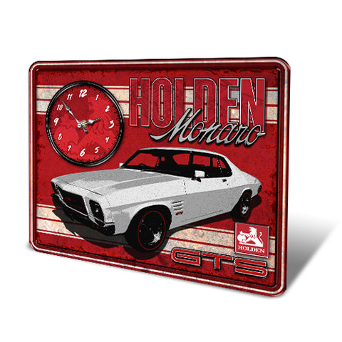 HOLDEN TIN SIGN WALL CLOCK