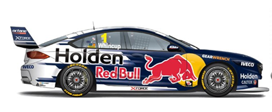 1:18 / 1:43 2018 Jamie Whincup's Red Bull HRT ZB Commodore