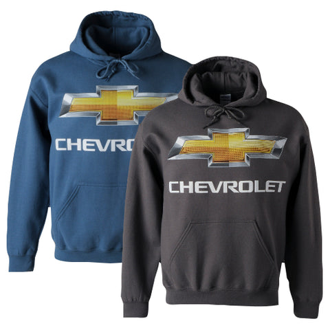 CHEVROLET GOLD BOWTIE HOODIE - CHARCOAL