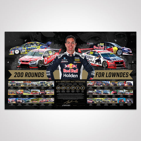 Triple Eight Race Engineering '200 Rounds For Lowndes' Signed Limited Edition Print