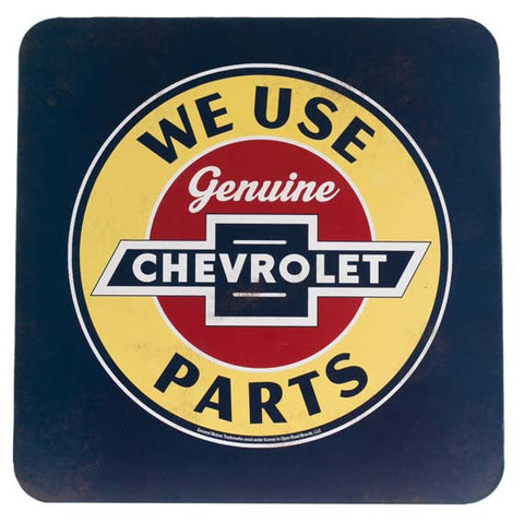 CHEVROLET PARTS DIE CUT METAL CABINET