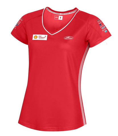 2019 SHELL V-POWER WOMAN'S T-SHIRT RED