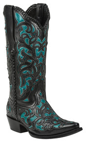 Black Star Boots-Webb Turquoise Boot