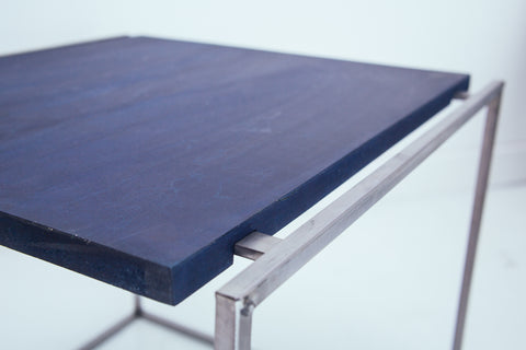 Floating Side Table in Indigo