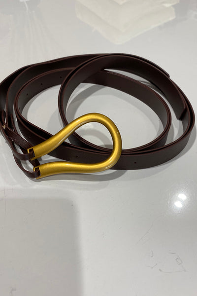 BRONZE YAS MINI BELT-Black-Chestnut