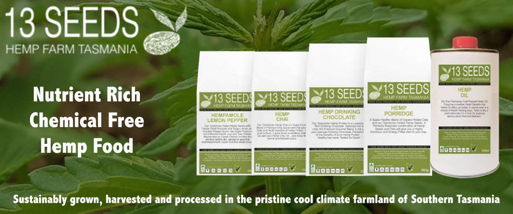 13 Seeds Hemp Farm Tasmania Hemp Food Products