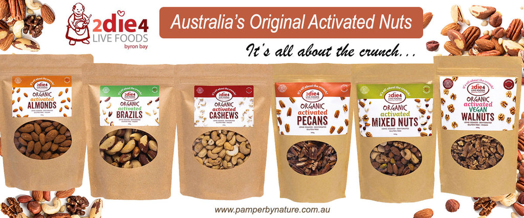 2die4 Live Foods Activated Nuts - Pamper by Nature