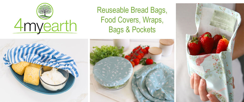 4myearth Reusable Food Covers, Wraps, Pockets & Bread Bags