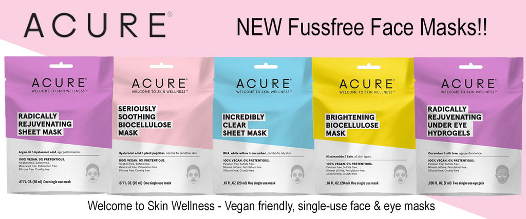 Acure Vegan Friendly Face Masks - Pamper by Nature