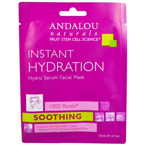 Andalou Naturals Instant Hydration Hydro Serum Facial Mask