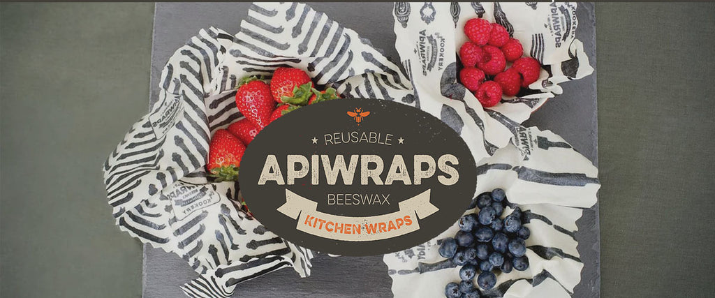 Apiwraps Reusable Organic Cotton Beeswax Kitchen Wraps