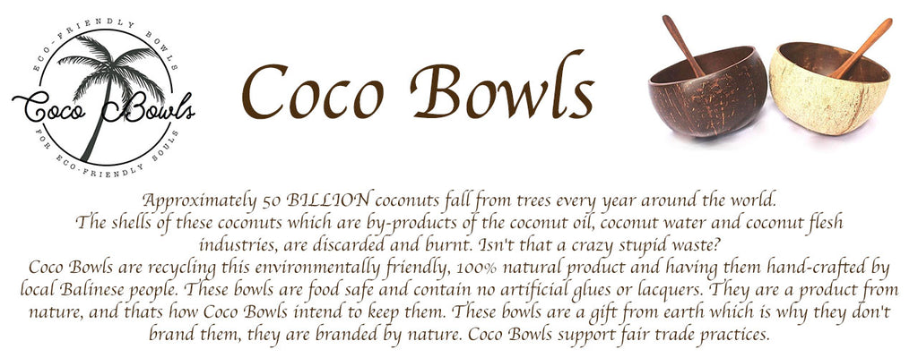 Coco Bowls Natural Coconut Bowls and Sono Spoons