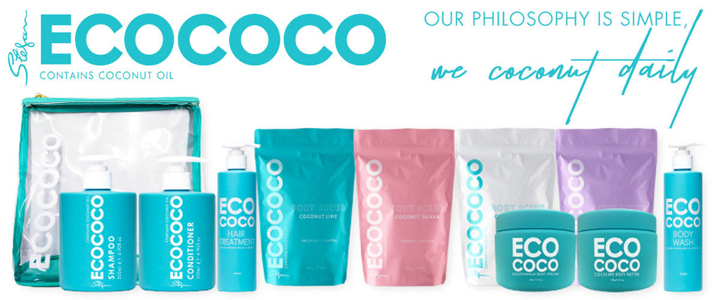 Eco Coco Natural Hair & Body Products - Contains Certified Organic Coconut Oil