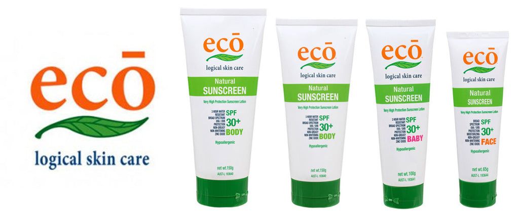 eco logical skin care natural sunscreen - body, baby & face