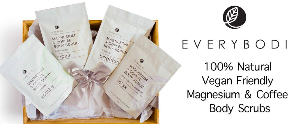 Everybodi 100% Natural, Vegan, Magnesium & Coffee Body Scrubs