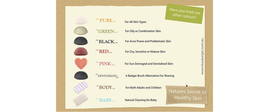 Kuu Konjac Sponges Colour Chart