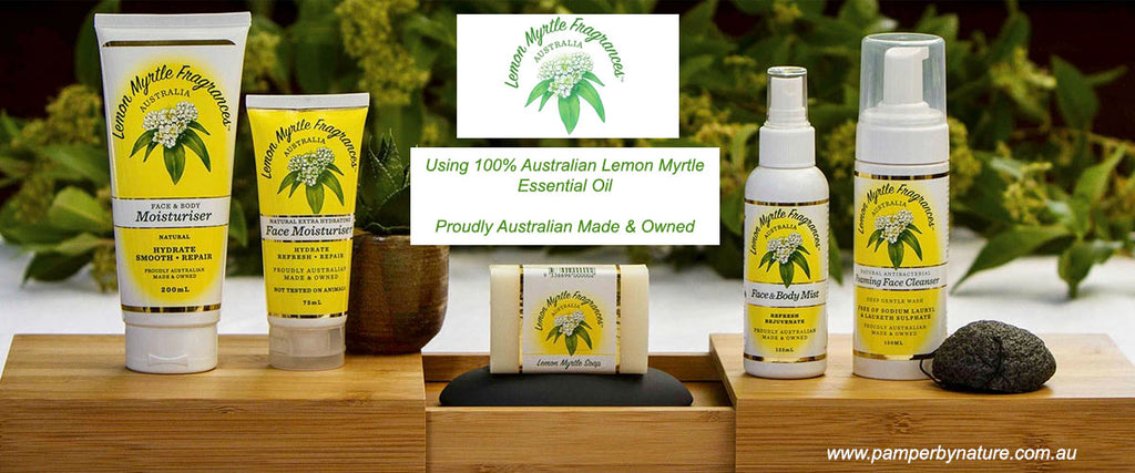 Lemon Myrtle Fragrances Natural Skincare, Personal and Home Care Products