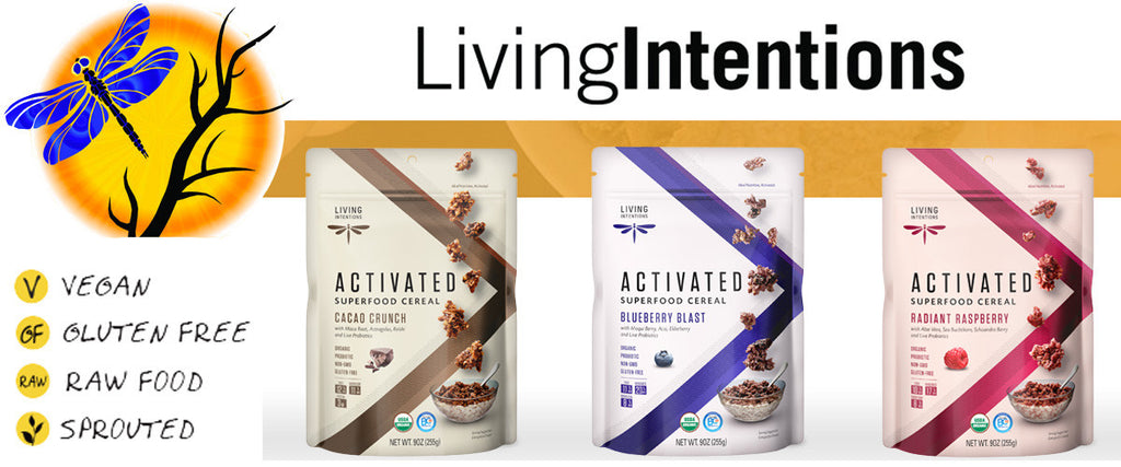 Living Intentions Superfood Cereal - Cacap Crunch, Radiant Raspberry & Blueberry Blast
