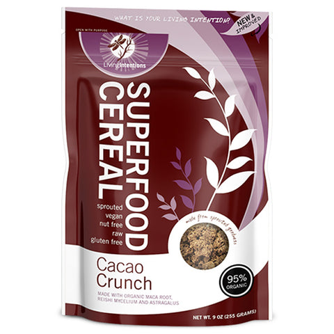 Living Intentions Activated Superfood Cereal - Cacao Crunch