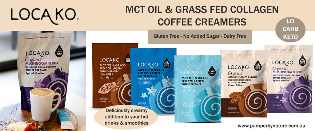Locako Collagen Bars and Coffee Creamers - Pamper by Nature